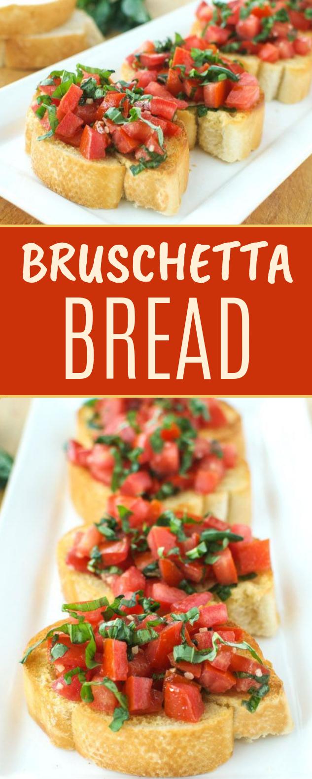 Bruschetta Bread #vegetarian #sidedish