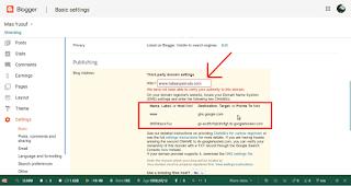 cara setting domain di blogspot