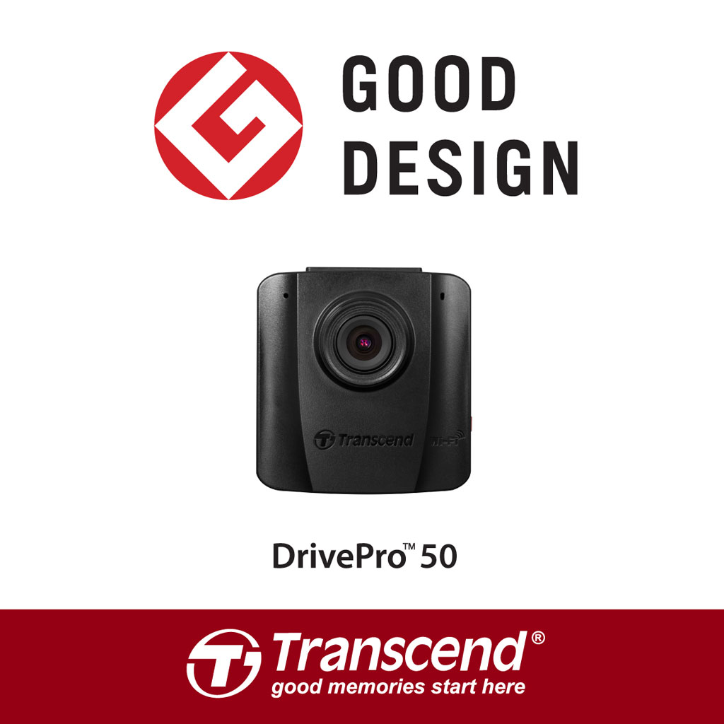 Transcend wins Good Design Award 2016 for its DrivePro 50 in Japan