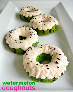 Watermelon Doughnuts