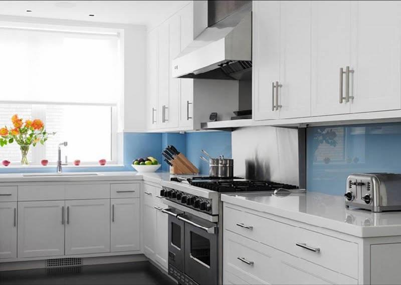 Kitchen Backsplash Blue Tiles