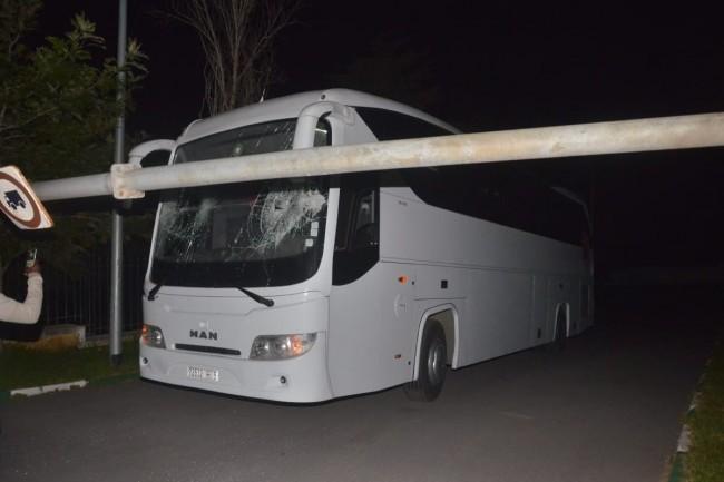 حافلة خصم الوداد تتعرض لحادثة سير