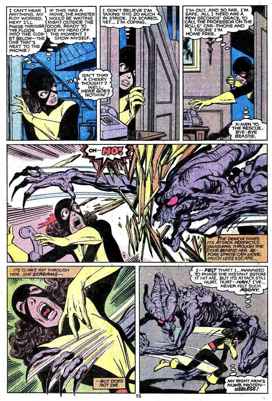 X-men v1 #143 marvel comic book page art by John Byrne