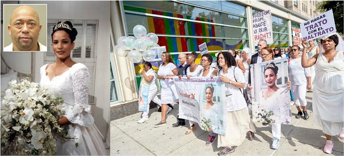 Recuerdan 18 años del asesinato de la dominicana Gladys Ricart con la Marcha de las Novias en Manhattan y El Bronx