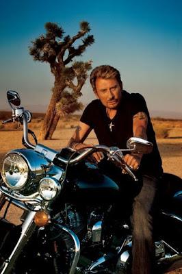Johnny en moto aux Etats-Unis