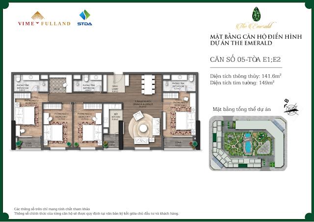 Thiết kế căn 05 tòa E1 - E2