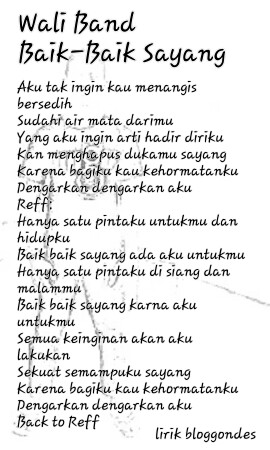 Lirik Lagu Wali