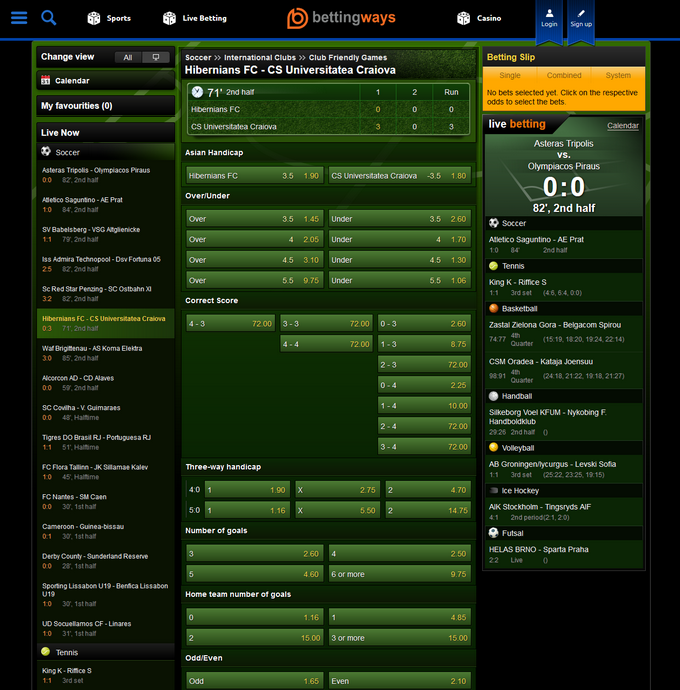 BettingWays Screen