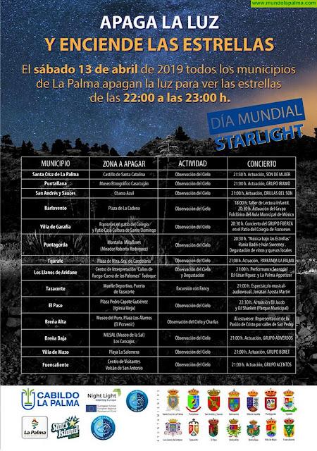 """La Palma """"apagará la luz"""" durante una hora para disfrutar de sus cielos nocturnos y las estrellas"""