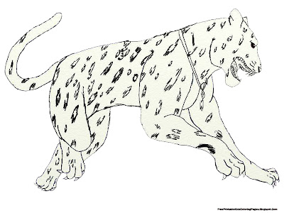 Jumping Jaguar Free Printable Kids Coloring Pages