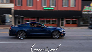 Blue Ford Shelby Mustang GT500