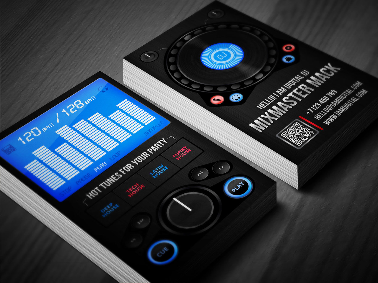 Dj business cards business card tips dj business card template psd free download creative dj business cards free printable dj reheart Images