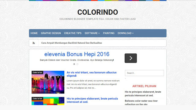 Colorindo Profesional Blogger Templates