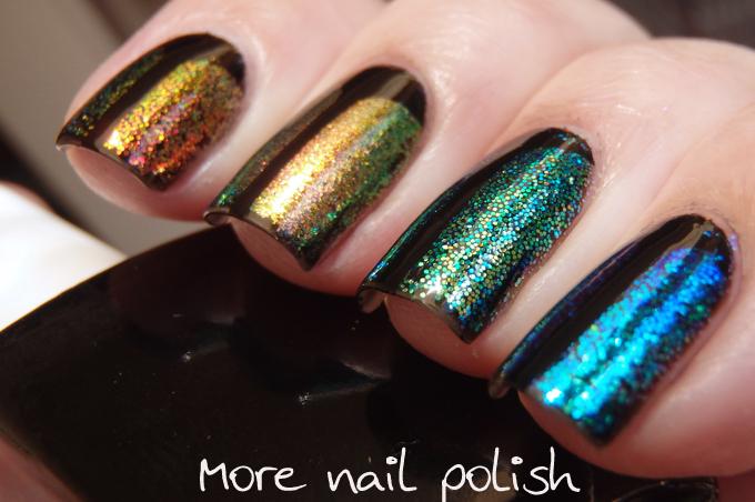 Digital Dozen does Black - Iridescent glitter beetles | More Nail ...