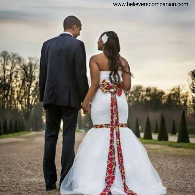15 Beautiful Ankara Inspired Wedding Gown Styles For