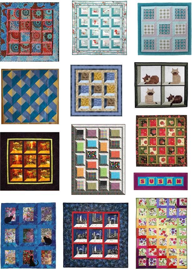 Christmas Attic Window Quilt Pattern.Attic Windows Quilt Block Pattern Easy Craft Ideas