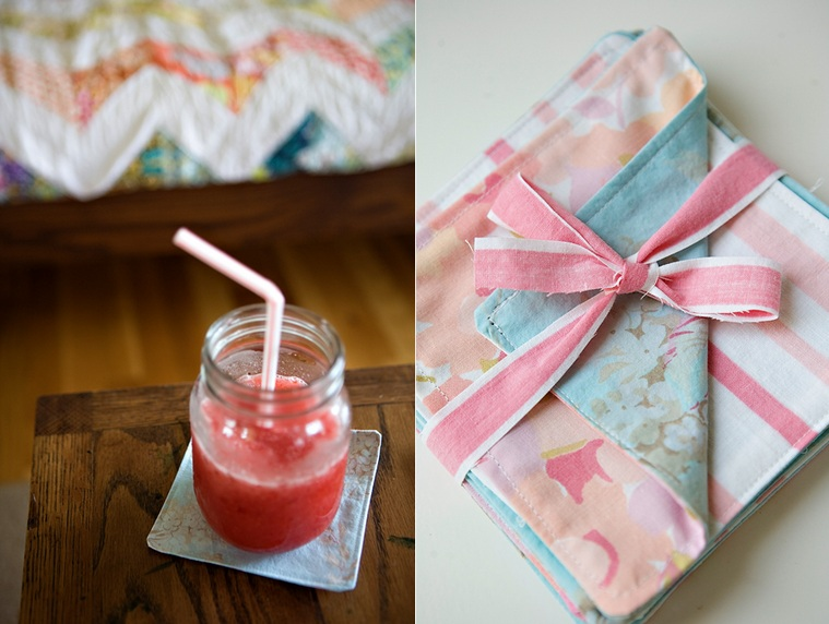 DIY Fabric Coasters And Something Yummy To Put On Them One - Coasters with photos on them