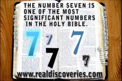 The seven of the bible. The number SEVEN is one of the most significant numbers in the Holy Bible. SEVEN is used over 700 times in the Bible.