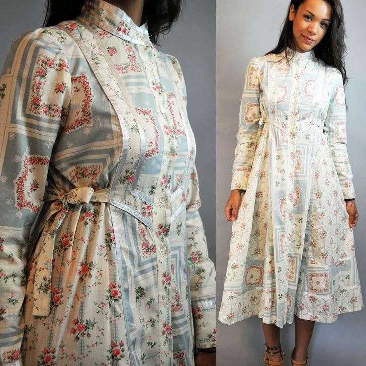 e6f982c9e13 70s Vintage Prairie Dress by rockstreetvintage