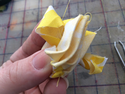 Make fabric rose from scrap fabric