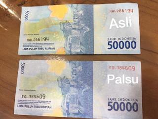Uang Rupiah Palsu Seri Baru