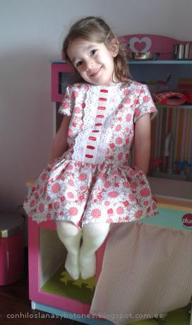 conhiloslanasybotones - vestido talle bajo para niña
