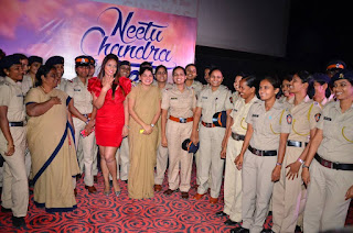 Actress Neetu Chandra Latest Stills in Red Short Dress at Womens Day Special Video Launch  0031.jpg