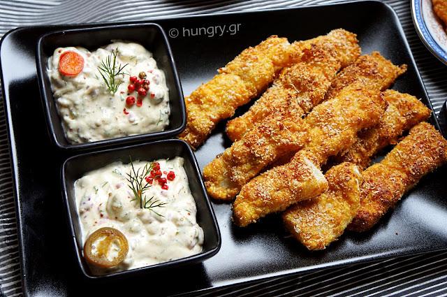 Μπαστουνάκια Ψαριού & Σπιτική Σως Ταρτάρ