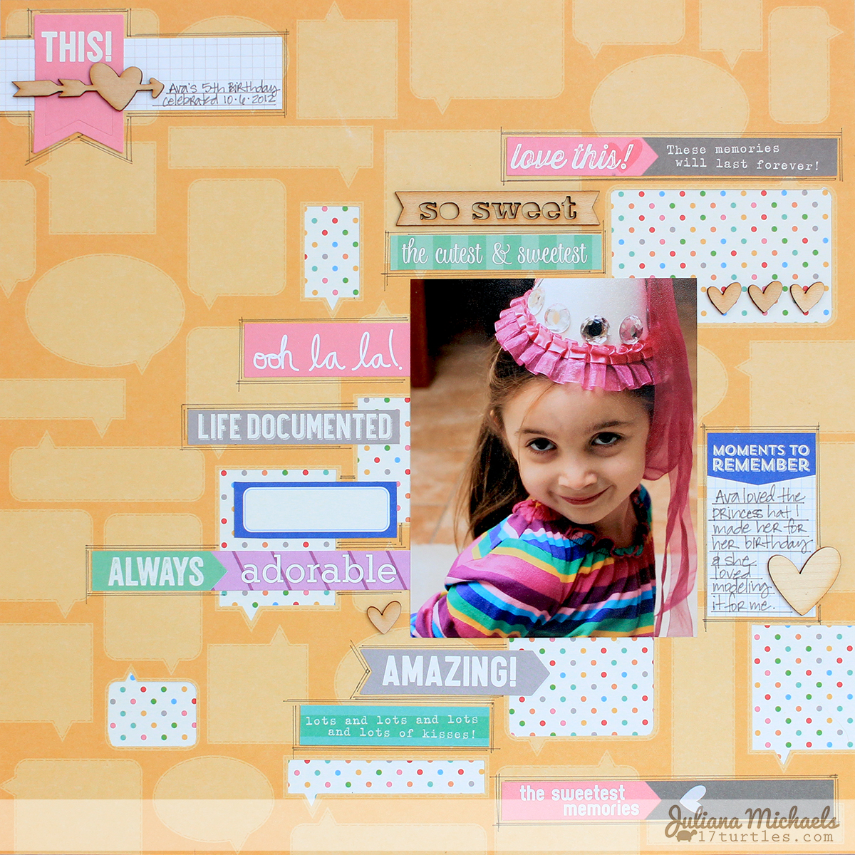 Oh La La Scrapbook Page by Juliana Michaels for Elle's Studio #ellesstudio #scrapbookpage