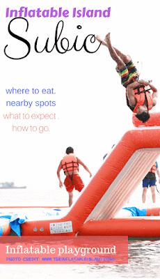 Beach Resort in Zambales inflatable island