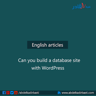 Can you build a database site with WordPress