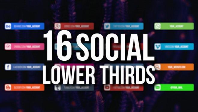 قالب افتر افكت 16 فاصل لشبكات التواصل الاجتماعي | CC فأعلى