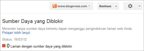 Penilaian Robot Google terhadap blogernas