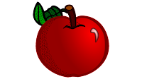 apple bobbing clipart