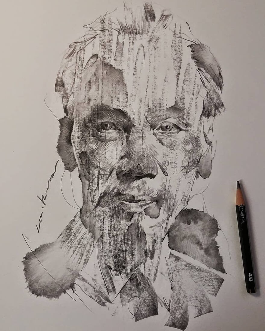 07-Lee-K-Lines-and-Swirls-Pencil-and-Charcoal-Portraits-www-designstack-co