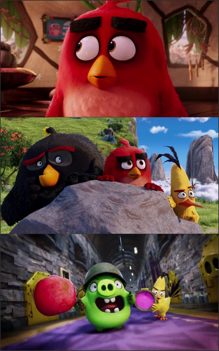 Screen Shot Of Angry Birds 2016 300MB Full Movie Hindi Dubbed Free Download 480P BRRip Small Size PC Movie
