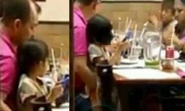 Πατέρας παρενοχλεί την 4χρονη κόρη του σε εστιατόριο-Η σύζυγός του τον στηρίζει! (photos)