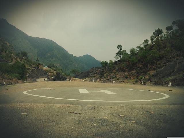 Helipad near Solan on the way to Kandaghat