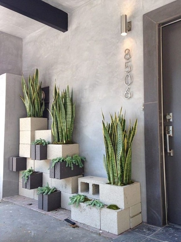 Concrete blocks for exterior decorating | lasthomedecor.com 2