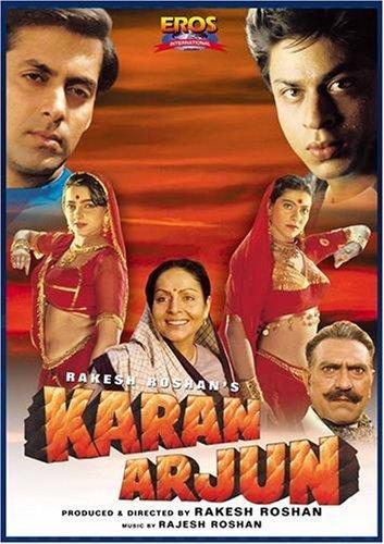 Poster Of Karan Arjun 1995 Hindi 720p DVDRip Full Movie Download
