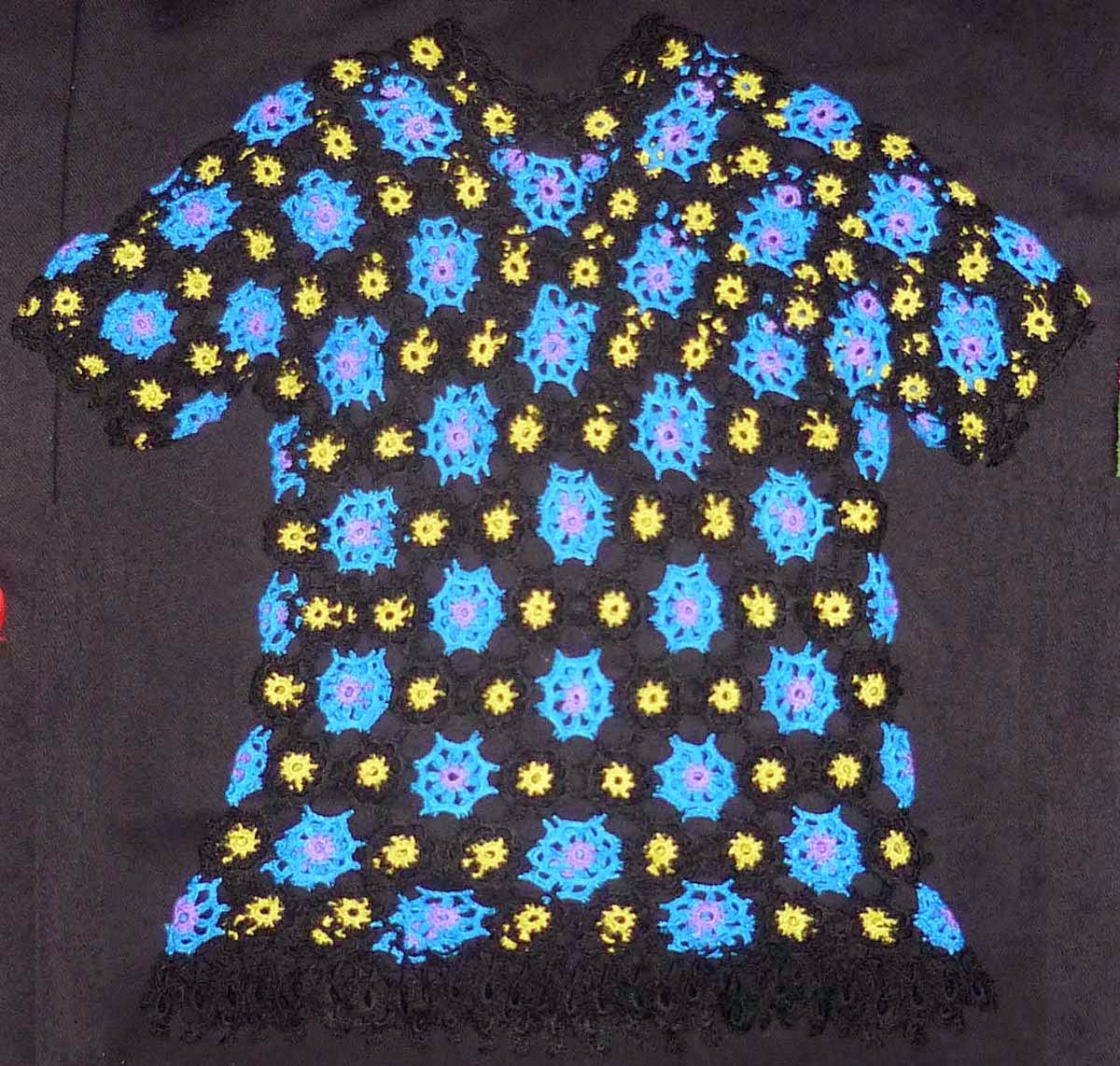 Tejidos carmes blusa tejida a crochet con hilos de for Tejidos y novedades paredes
