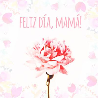 tarjeta imagen dia de la madre rosa