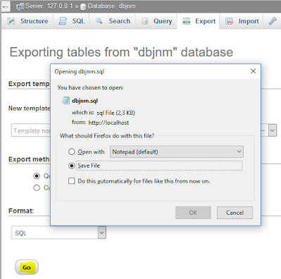 Cara Backup, Export, Import Database MySQL