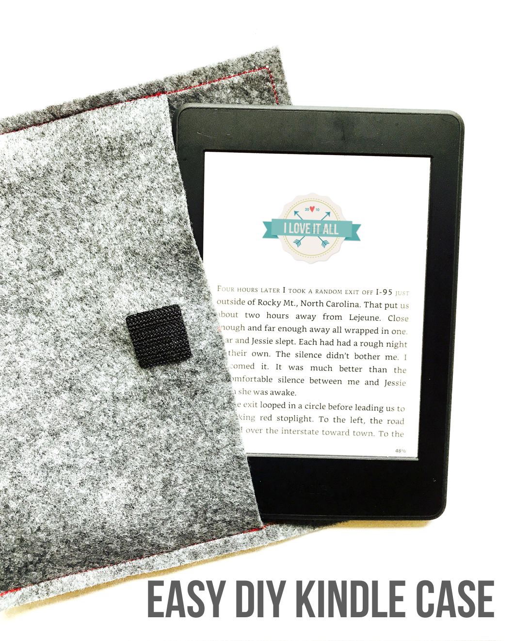 #easy #DIY #felt #sewing #paperwhite #tutorial #kindle #cover