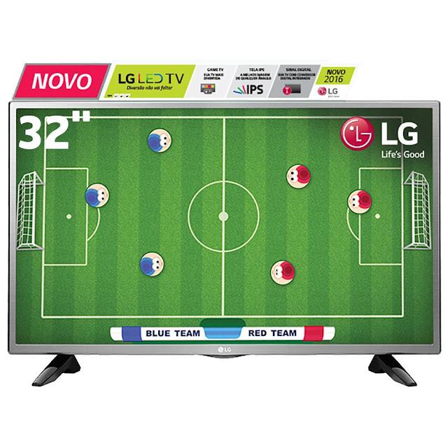 """TV LED 32"""" HD LG com conversor digital integrado, game TV, entrada HDMI e USB"""