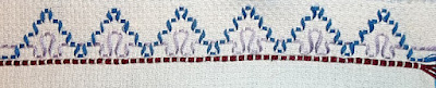 Swedish weaving sample Step 3