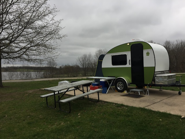 "On cold, overcast days, it's great to own a tiny ""standy"" trailer to get away from the inclement weather."