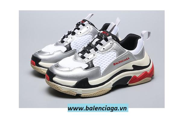 Giày Balenciaga triple S silver full box giá rẻ