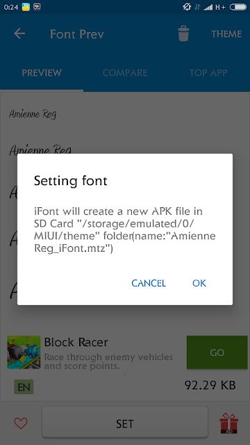 Cara ampuh ganti Font di semua versi MIUI tanpa ROOT 100% berhasil