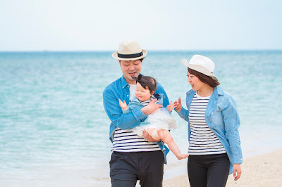 1歳誕生日写真 ビーチ 沖縄